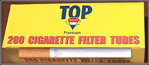 The TOP line of Make Your Own Cigarette Tubes