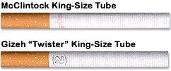 New McClintock and Gizeh Twister King-Size CigaretteTubes