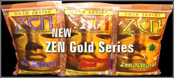 The New ZEN Gold Series of Premium Tobaccos